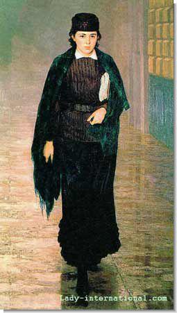 Н. А. Ярошенко. Курсистка. 1883.