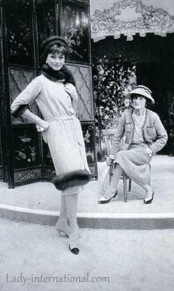 Габриэль с любимой моделью Мари-Элен Арно, 1958 г